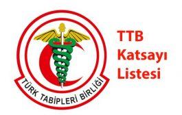 TTB HUV 2018 Yılı Katsayı Listesi Belirlendi