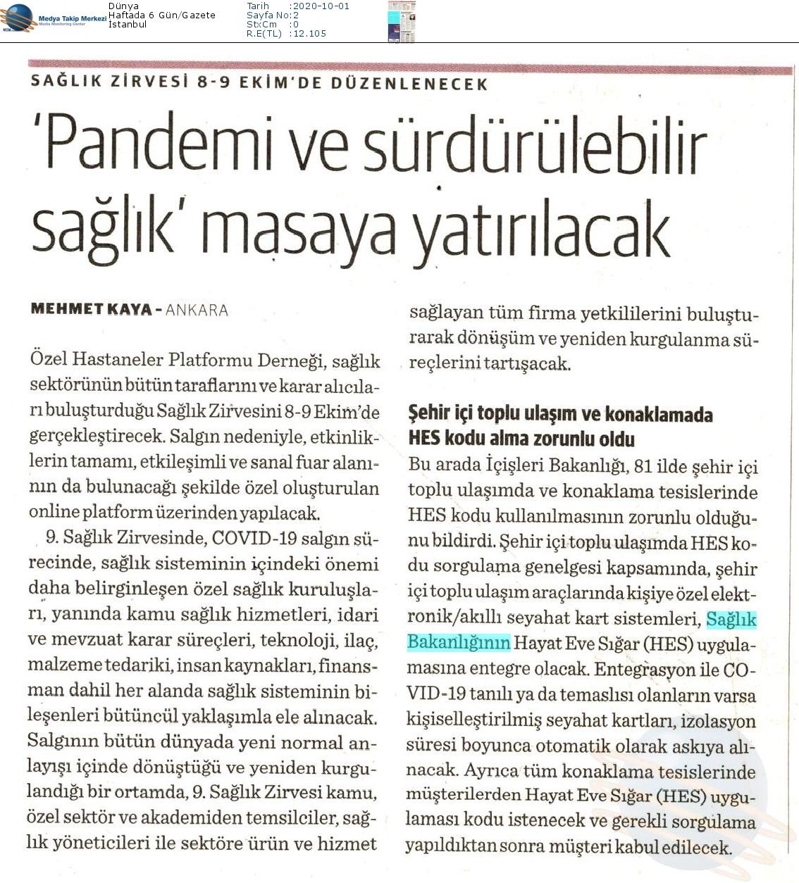 Dunya-_PANDEMI_VE_SURDURULEBILIR_SAGLIK_MASAYA_YATIRILACAK-01.10.2020