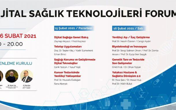 Dijital Sağlık Teknolojileri Forumu Başlıyor